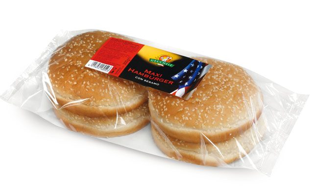 Pane Maxi Hamburger con Sesamo 4pz 300gr